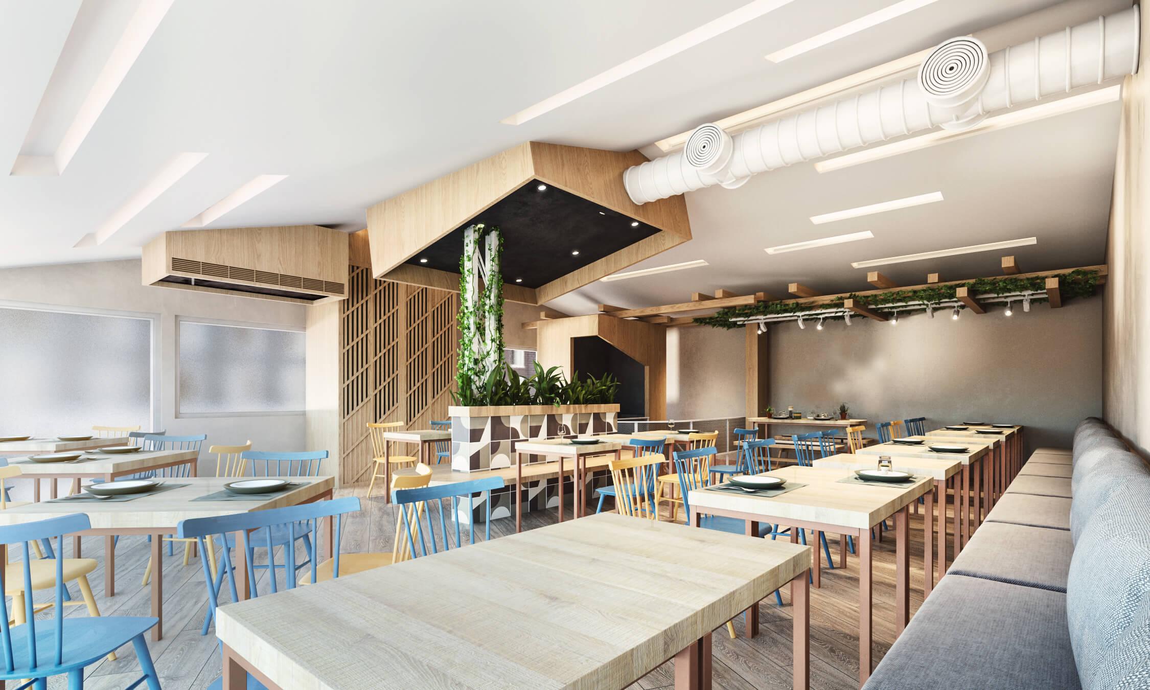 義大利麵店面設計餐廳設計